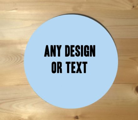 Any Design Or Text Circle - Metal Street Sign Wall Sign - Personalise custom art